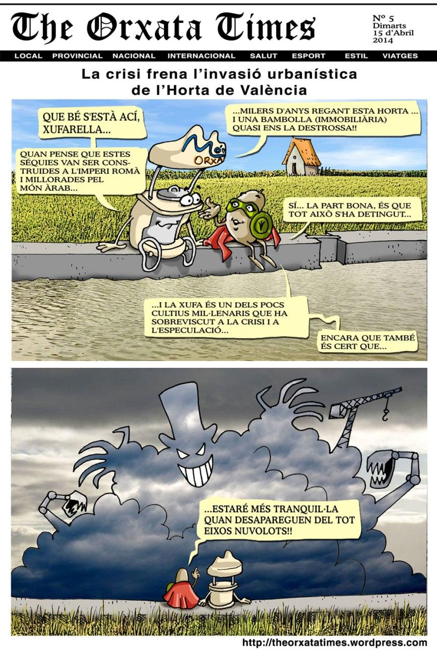 La crisi frena l'invasió urbanística de l'Horta de València