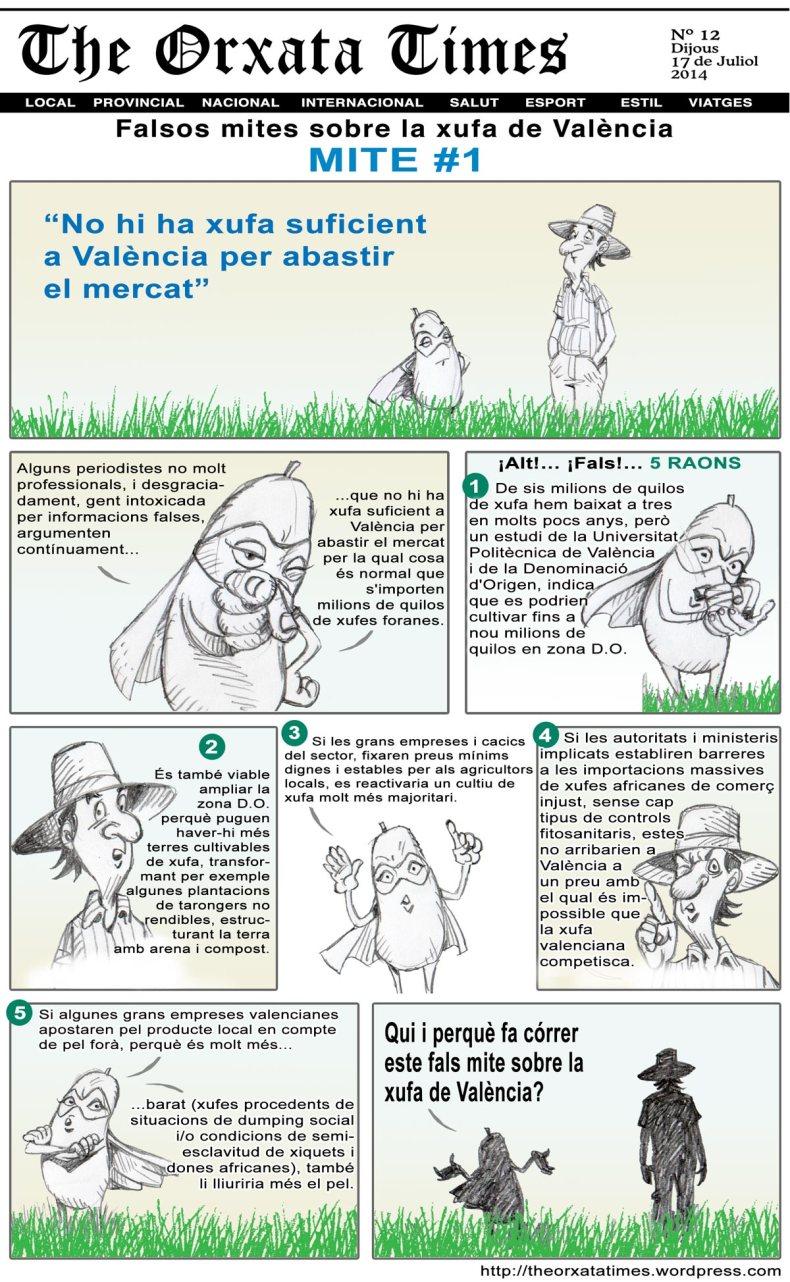 Falsos mites sobre la xufa de València #1